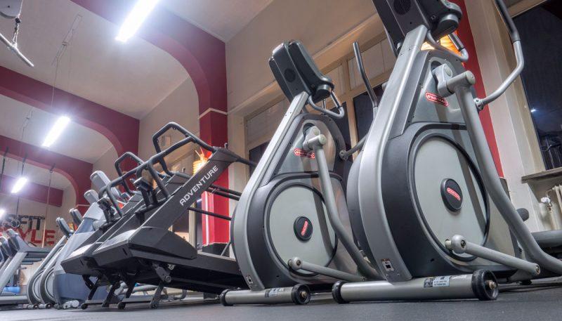 Träningscyklar i Cardiohallen