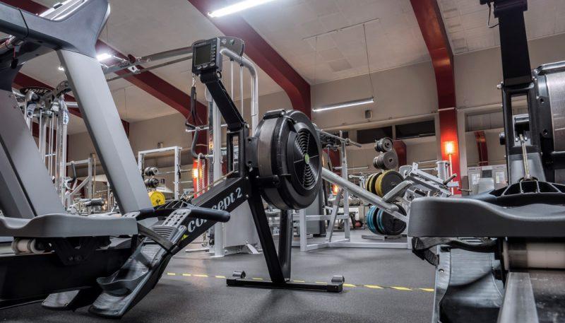Maskiner i Cardiohallen