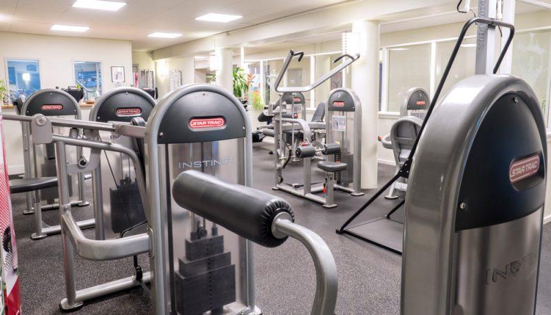 Maskiner i Hälsohallen